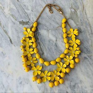 Vintage J. Crew floral statement necklace